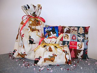 Sáčok na vianočné darčeky