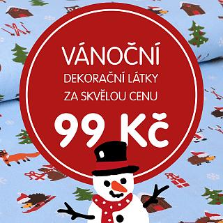 Vánoční dekorační látky za skvělou cenu!