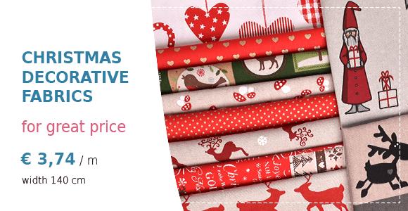 Christmas decorative fabrics