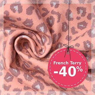 Úplety French Terry se 40% slevou