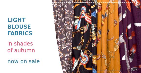 Autumn blouse fabrics