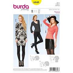 8cf23a9a8d0 Burda módní střih 6732