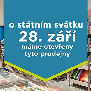 Dorazte si nakoupit i o svátku 28.9.2019