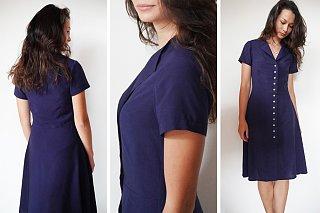 Jednoduché dámské propínací šaty
