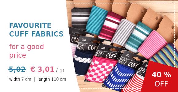 Cuff Fabrics - 40 % off