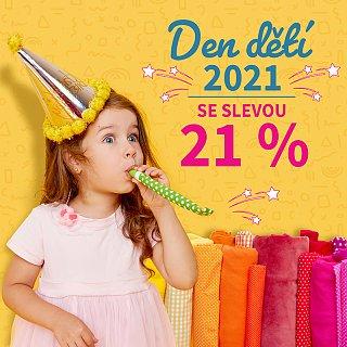 Den dětí 2021 se slevou 21 %