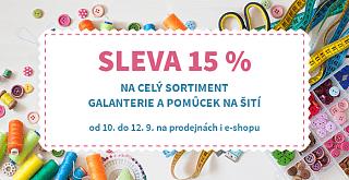 SLEVA 15 % na galanterii 🧵