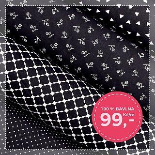 Nová černobílá kolekce bavln