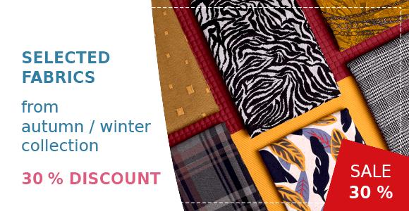 Selected fabrics on sale