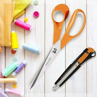 Nůžky Fiskars s odlamovacím nožem jako dárek
