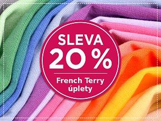 Jednobarevné French Terry úplety se slevou 20 %