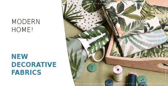Decorative fabrics with leaves
