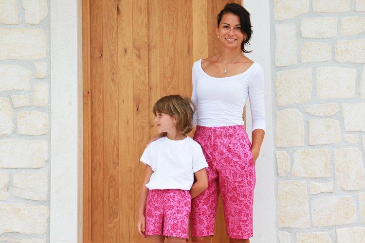 Střih na dámské šortky (bermudy) z tkaniny + návod na šití