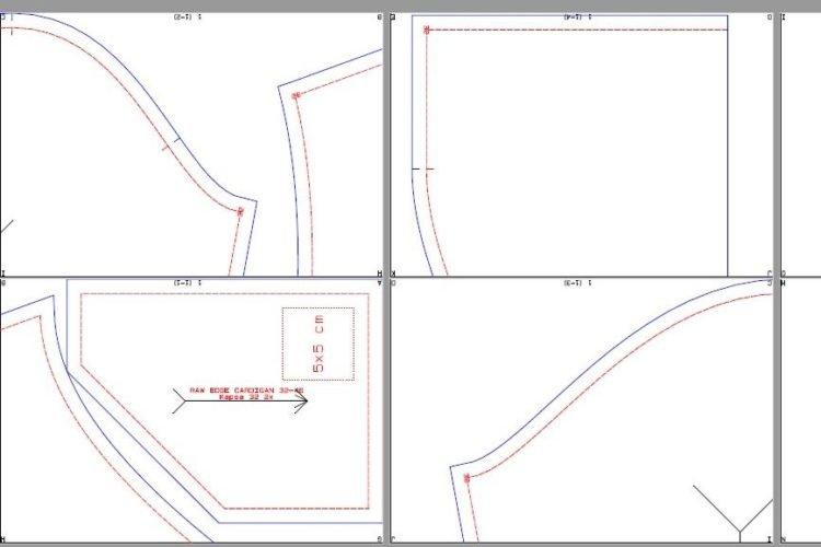 Jak vypadá střih Prošikulky.cz - verze PDF A4 se švovými přídavky