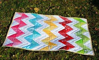 Návod na cikcakový quilt