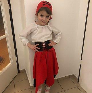 Maškarný kostým - malá pirátka