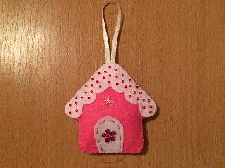 Cukrový vánoční domeček