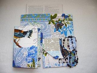 Obal na knihu, dosky a taštička na drobnosti