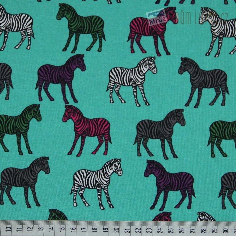 93efe19fc5d Bavlněný úplet zelený se zebrami Bavlněný úplet zelený se zebrami ...