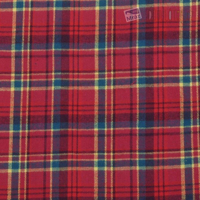 Bavlněný flanel červený kostkovaný  54dec9a1cb5
