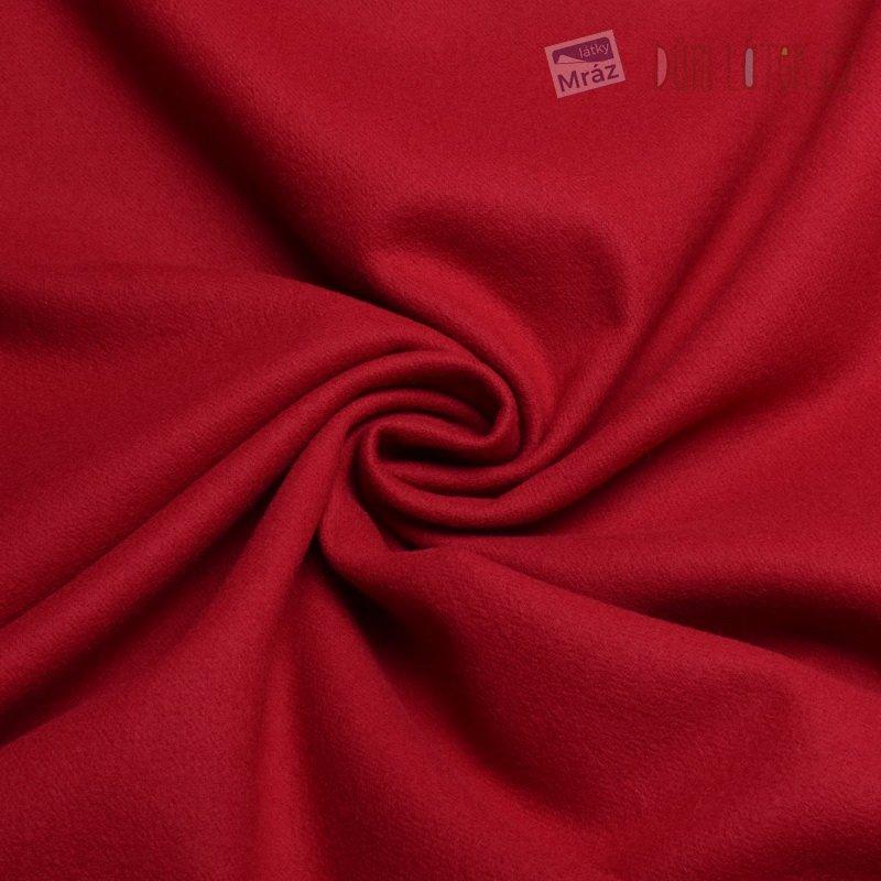 Vlněný flauš červený ... 55e68b2c6fd