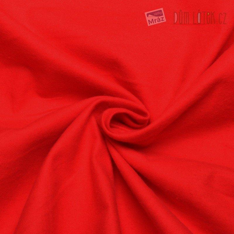 Bavlněný flanel červený ... 789eafe90da