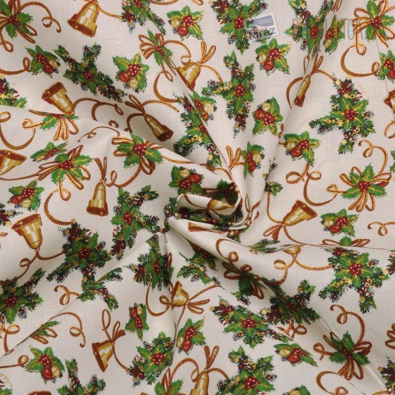 Vianočné bavlna so zvončekmi Vianočné bavlna so ... 53a986b6f97