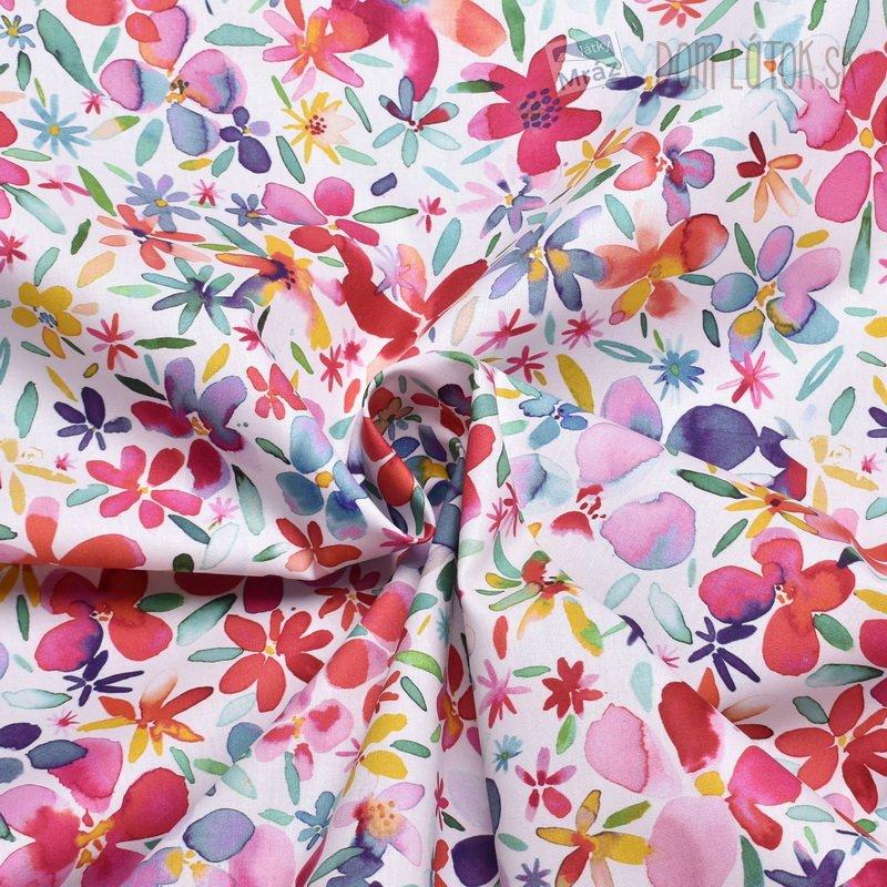 5670556c9eb9 ... digitálna tlač Bavlnený popelín s kvetmi