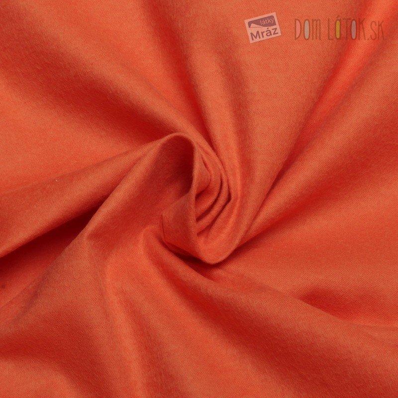 Bavlnený flanel oranžový   červený ... eb5c22c4f75