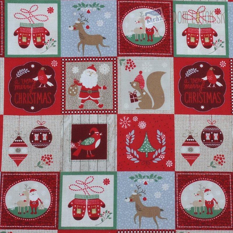 Vianočné bavlna s obrázkami  1a0f3b63320