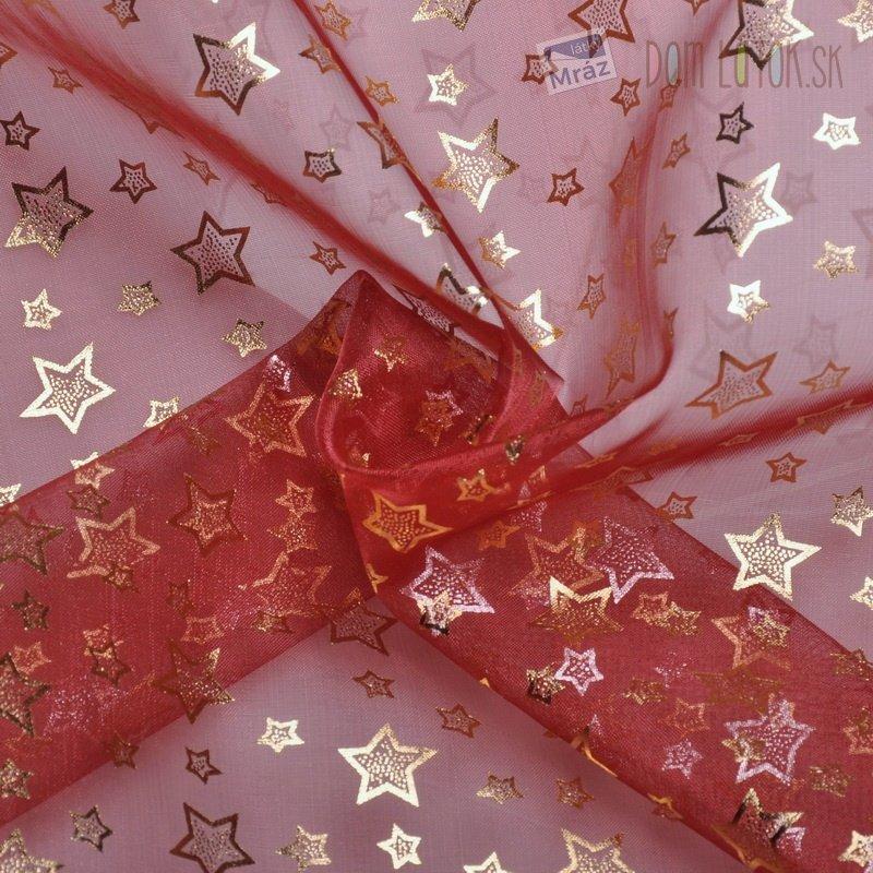 5e264b281a35 Organza červená s hviezdičkami ...