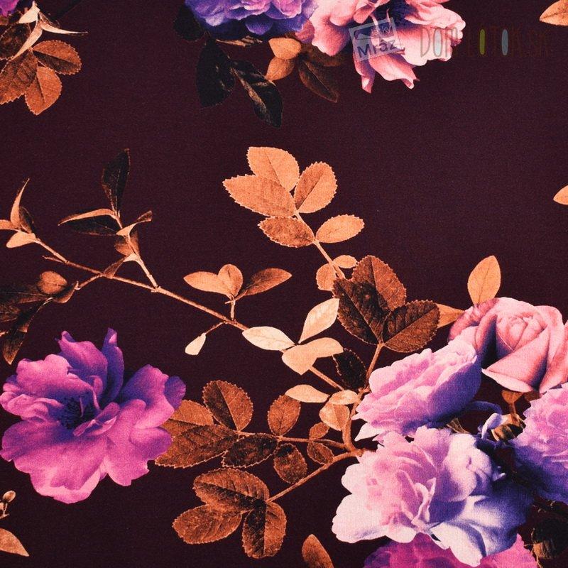 bfa315c174a5 Viskózový úplet s kvetmi - digitálna tlač ...