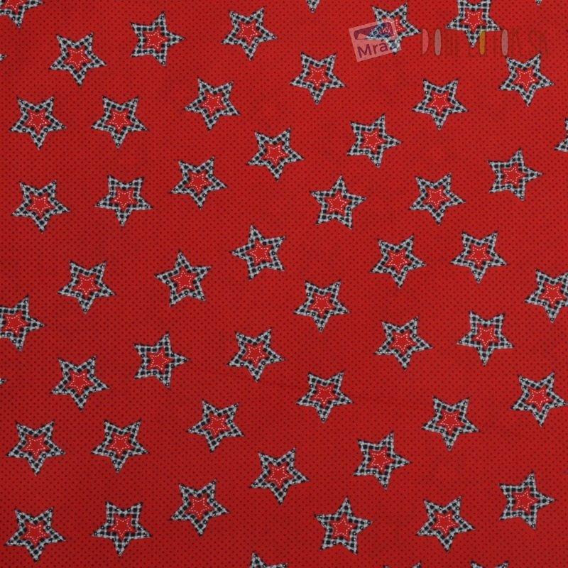 Vianočné bavlna červená s hviezdičkami  5b532ad80c2