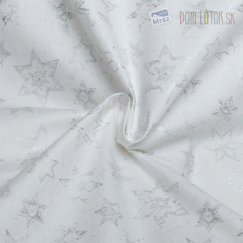 ... Vianočné bavlna so striebornými hviezdami 6223aff9c0d