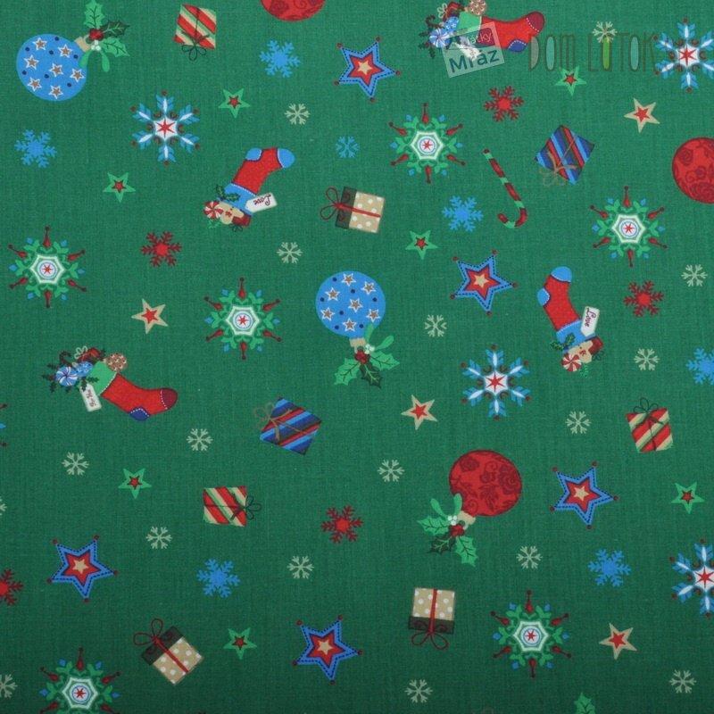 Vianočné bavlna zelená  7b54e32aaa1